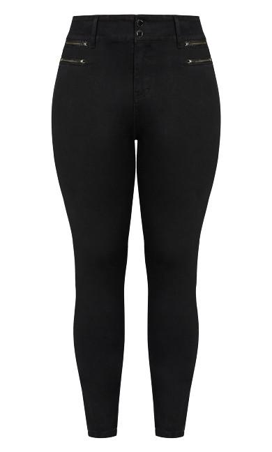 Harley Rocker Zip Front Jean - black
