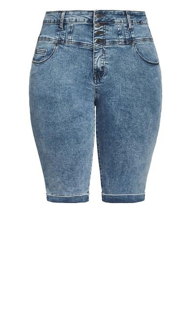 Knee Hi Waist Short - grey