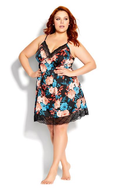 Plus Size Amy Chemise - black
