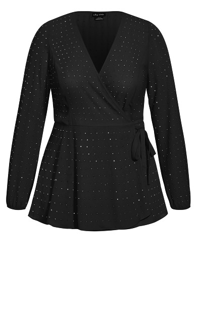 Bling Flirt Top - black