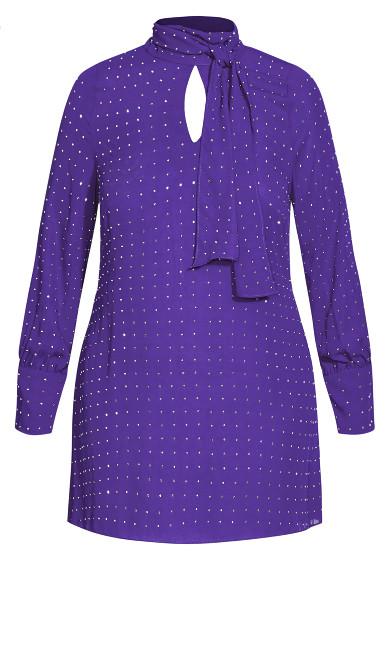 Nailhead Tunic - royal purple