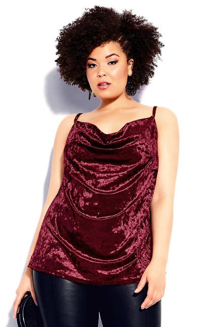 Velvet Lust Cami - ruby