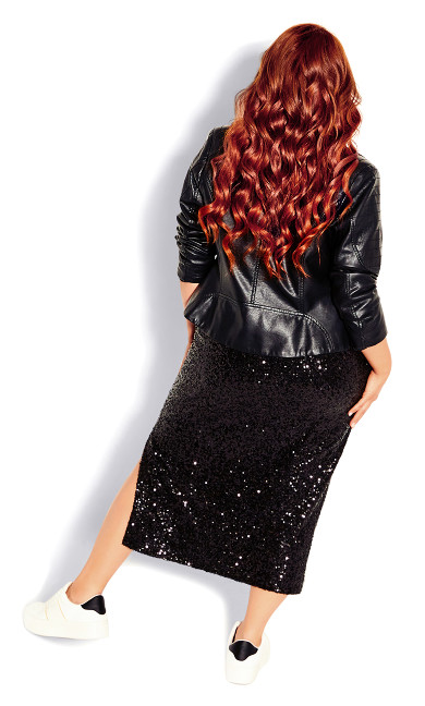 Bronzed Skirt - black