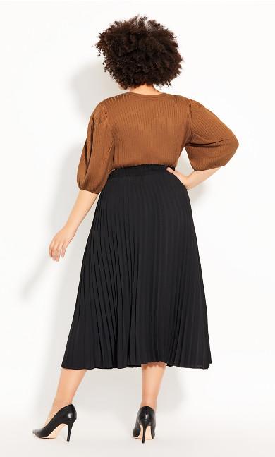 Simple Pleat Skirt - black