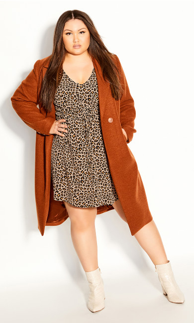 Plus Size Cheetah Tunic - cheetah