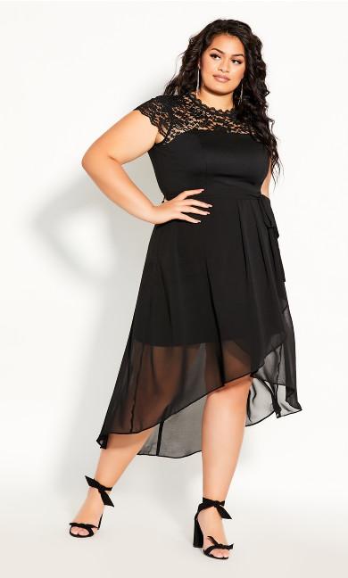 Lace Angel Maxi Dress - black