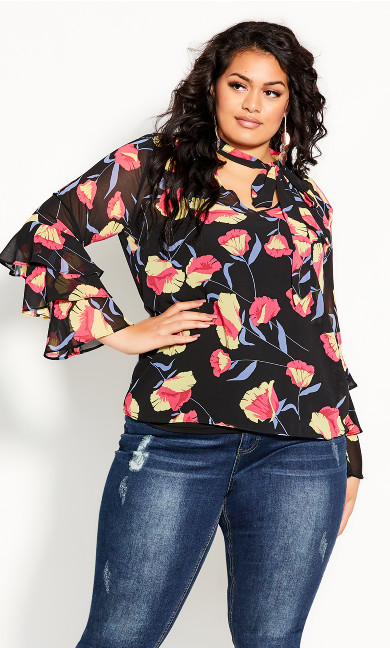 Plus Size Vixen Shirt - black