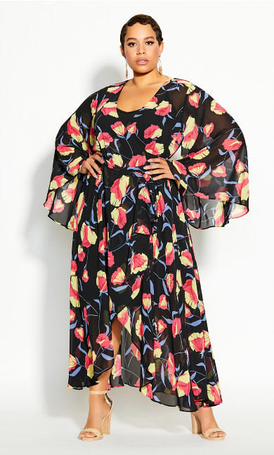 Plus Size Vixen Maxi Dress - black