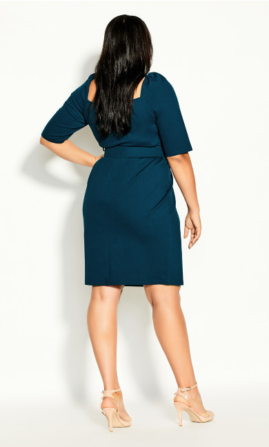 Illusive Sleeve Dress - alpine