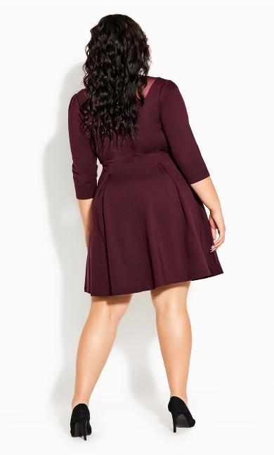 Cute Mesh Dress - oxblood