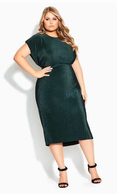 Baby Pleat Dress - seagreen