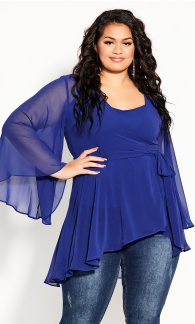 Plus Size Fleetwood Tunic - lapis