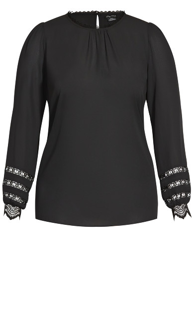 Lace Desire Shirt - black