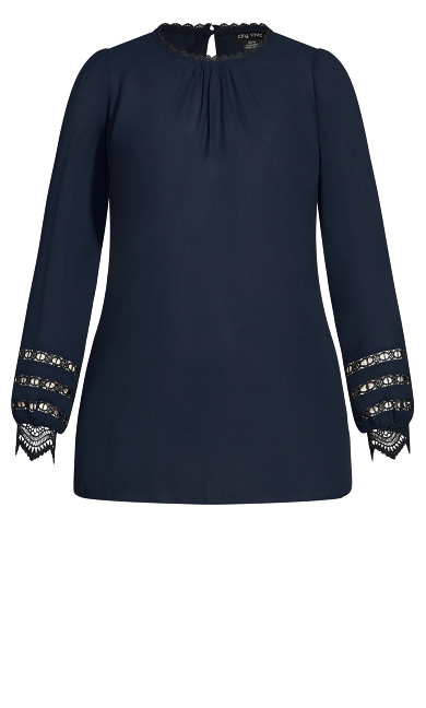 Lace Desire Shirt - navy