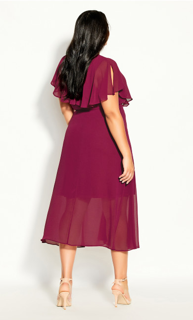 Softly Tied Dress - sangria