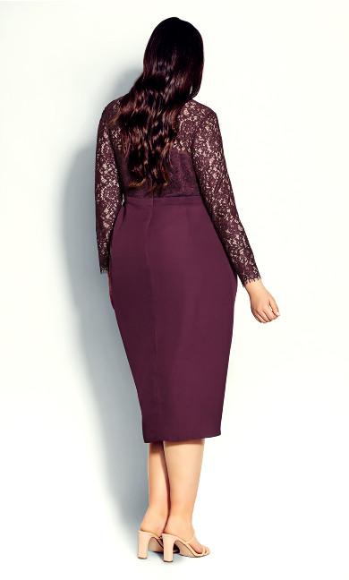 Elegant Lace Dress - bordeaux