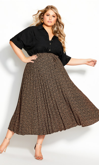 Plus Size Baby Leopard Skirt - leopard