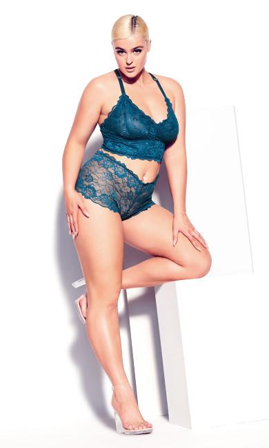 Kira Lace Bralette - poseidon