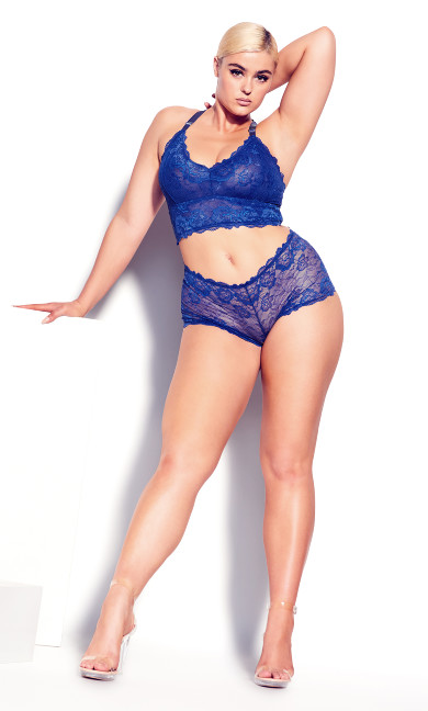 Kira Lace Bralette - turkish blue