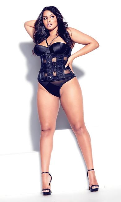 Betty Trim Underbust Corset - black