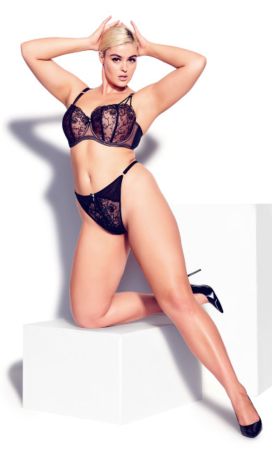 Tatiana Crotchless G-String - black