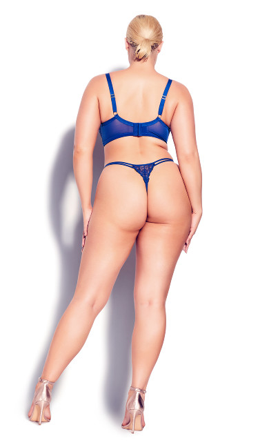 Tatiana Crotchless G-String - royal blue