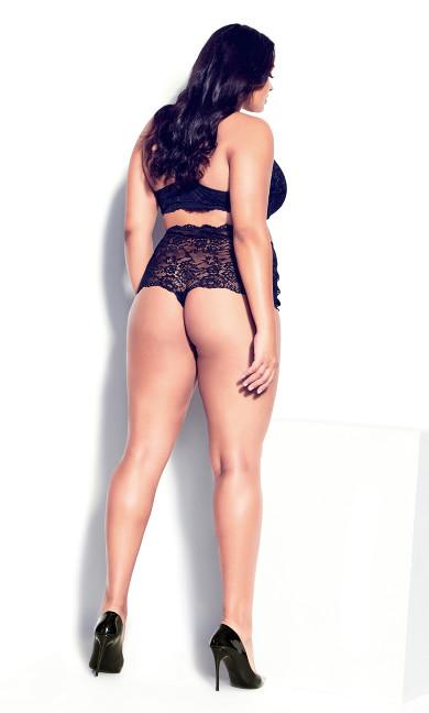 Pia Crotchless Thong - black