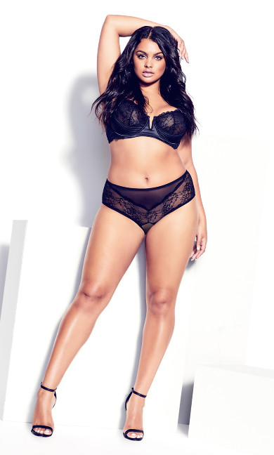 Marilyn Demi Underwire Bra - black