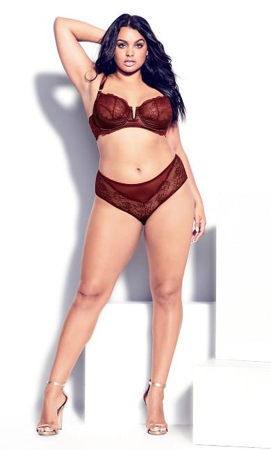 Marilyn Demi Underwire Bra - pomegranate