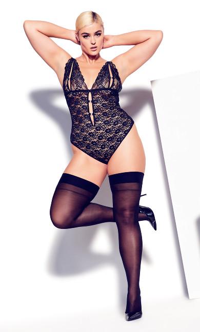 Madame X Crotchless Bodysuit - black