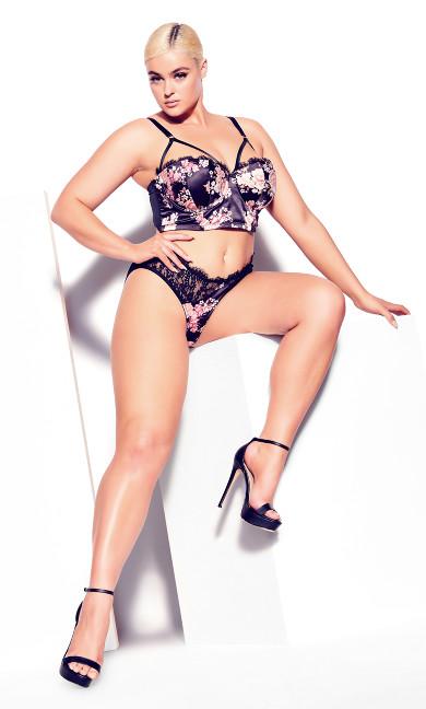 Carla Longline Contour Bra - black
