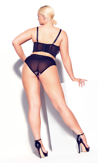 Carla Cheeky Shorty - black