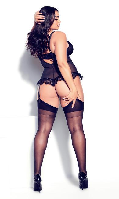 Cindy Crotchless Bodysuit - black