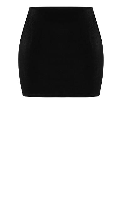 Velvet Spanking Skirt - black