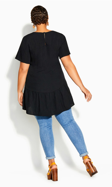 Breezy Frill Top - black