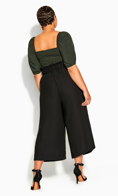 Easy Crop Pant - black