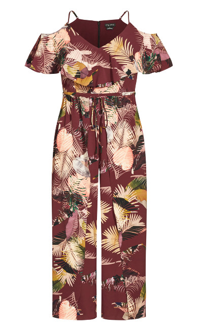 Tropic Heat Jumpsuit -  mauve