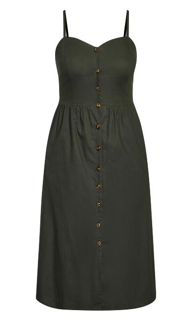 Button Baby Dress - fern