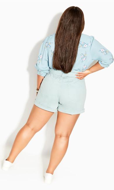 Waist N Belt Shorts - mint