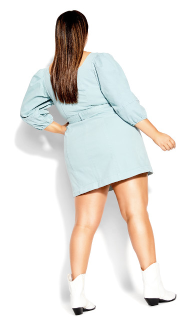 Cool Denim Dress - mint