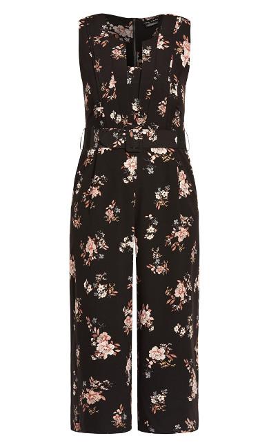 Imperial Floral Jumpsuit - black