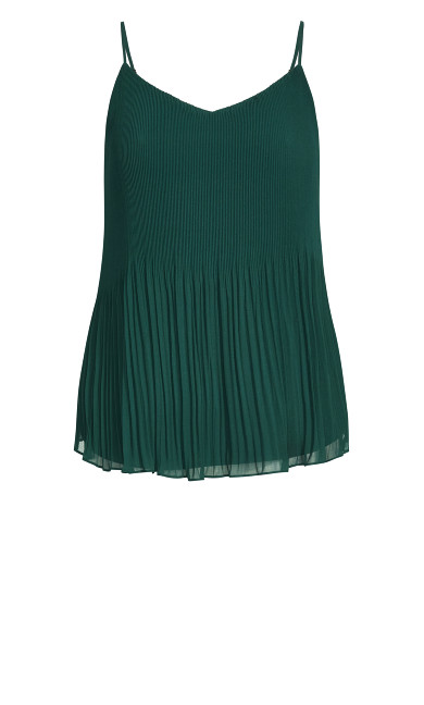 Pleated Swing Top - jade