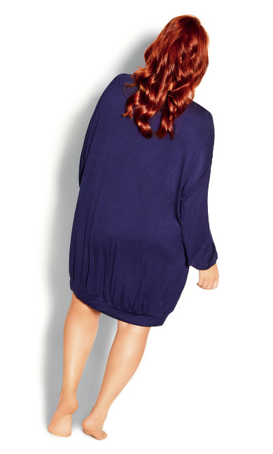 Molly Long Sleeve Tunic - navy