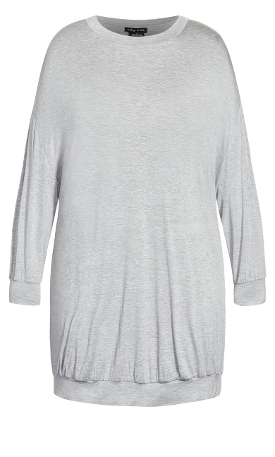 Molly Long Sleeve Tunic - grey