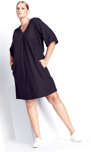 Simple Lines Dress - black