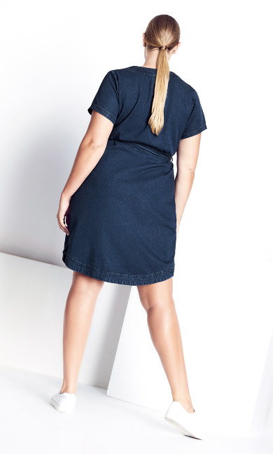 Refined Denim Dress - denim