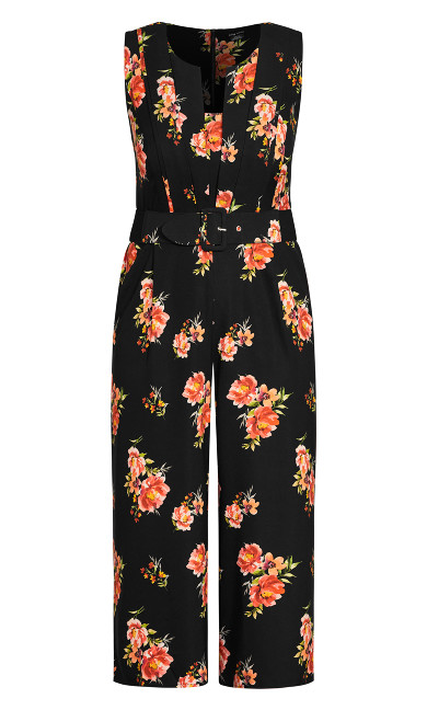 Petal Power Jumpsuit - black