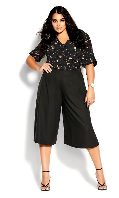 Cullotte Vibe Pant - black
