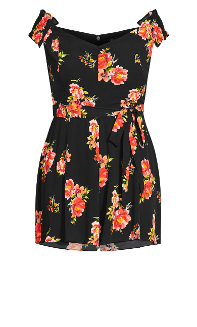 Petal Power Playsuit - black