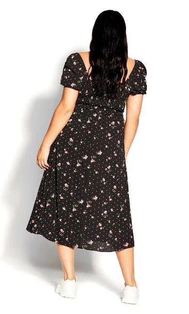 Cute Petal Dress - black